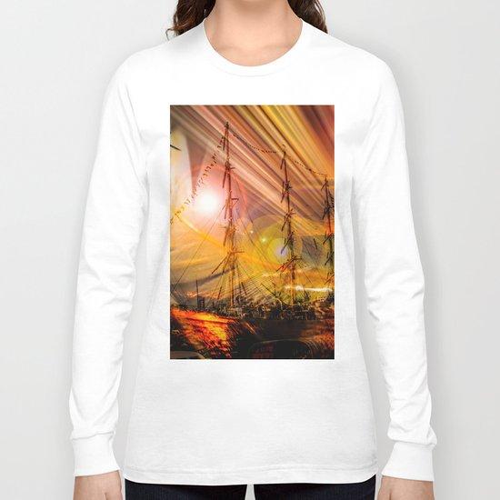 Sailing ships sunset Long Sleeve T-shirt