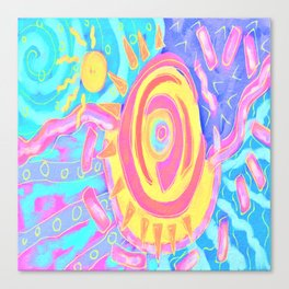 The Sun Shines Bright Abstract Digital Painting Canvas Print