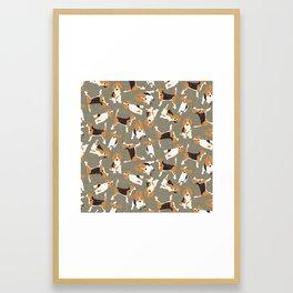 beagle scatter stone Framed Art Print