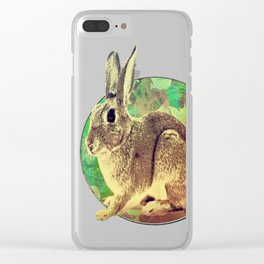 Easter Bunny Clear iPhone Case
