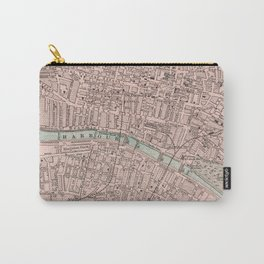 Vintage Map of Glasgow Scotland (1901) Carry-All Pouch