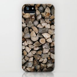 Wood Stack iPhone Case
