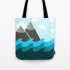 Ocean and Mountains Tote Bag