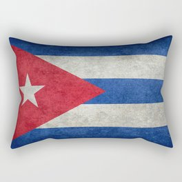 Cuban national flag- vintage retro version Rectangular Pillow