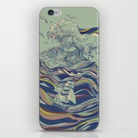 huebucket iPhone & iPod Skins featuring OCEAN AND LOVE by Huebucket