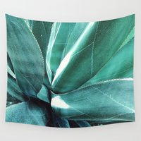 cactus Wall Tapestries featuring Cactus by Alexandra Str