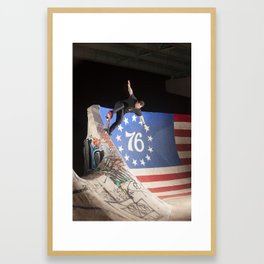 Bam Margera - FDR Bluntslide Framed Art Print