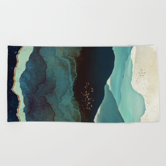 Indigo Mountains Beach Towel