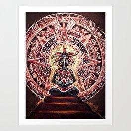 Mayan Cacao God Art Print