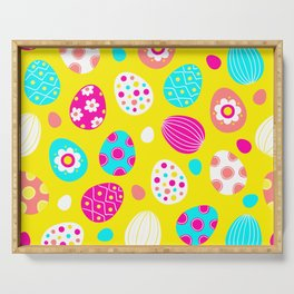 Easter Egg Party Pattern Serving Tray