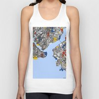istanbul Tank Tops featuring Istanbul by Mondrian Maps