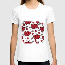 Heart background T-shirt