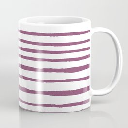 Magenta pink watercolor hand painted stripes Coffee Mug