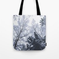 cities Tote Bags featuring Scared cities by HappyMelvin