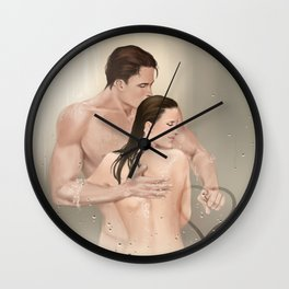 steamy picture Wall Clock