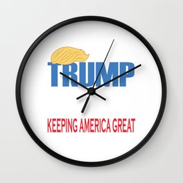 This is the Awesome Tshirt Design to show the modern republic who's the best chief leader TRUMP 2020 Wall Clock