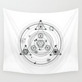 Sacred geometry and geometric alchemy design Wall Tapestry