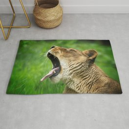 Yawning Lion Rug