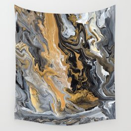 Gold Vein Marble Wall Tapestry