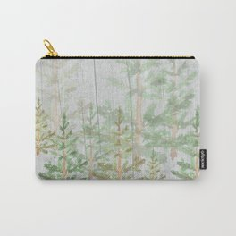Pine forest on weathered wood Carry-All Pouch