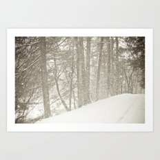 Stopping by a Snowy Woods Art Print