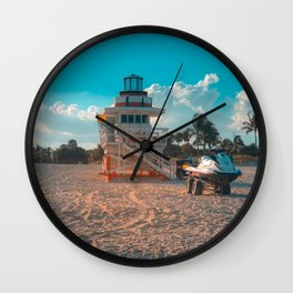 Miami Baywatch Wall Clock