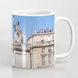 French National Assembly an Law statue in Paris Coffee Mug