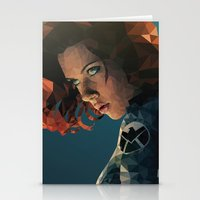 black widow Stationery Cards featuring Black Widow by Chelsea Lindsay