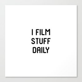 I Film Stuff Daily Movie Directors Film School Canvas Print