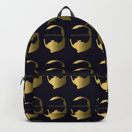 Nebuchadnezzar II King of Babylon - a pattern with a dark blue background Backpack
