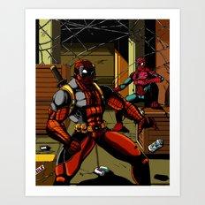 The Amazing Spider-Pool Art Print