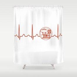 Teacher Assistant Heartbeat Shower Curtain
