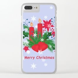 Christmas background . Clear iPhone Case
