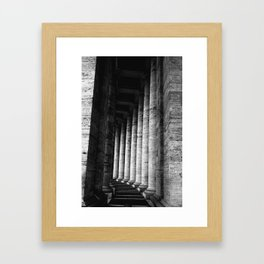pillar Framed Art Print