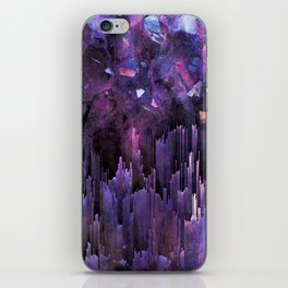 Ultraviolet Crystal World iPhone Skin