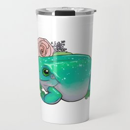 Succulent Frog Travel Mug