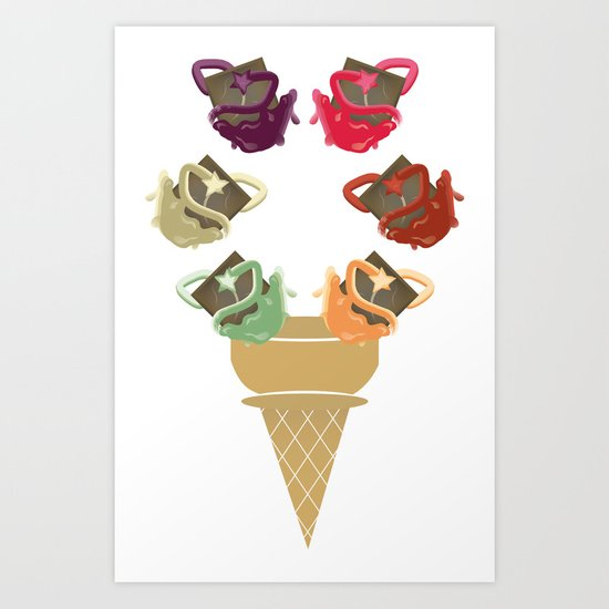 Chocolate Rippleboat Sundae  Art Print