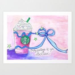 Unicorn drink Art Print