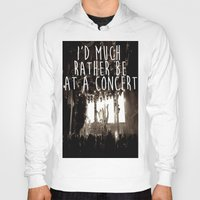 concert Hoodies featuring Concert life by Parker Hoge