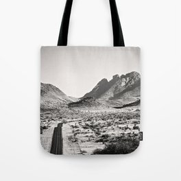 The Lost Highway III Black & White Tote Bag