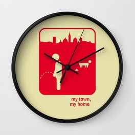 My town, my home Wall Clock