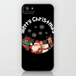 Merry Christmas design Funny Gift for Xmas Lovers iPhone Case