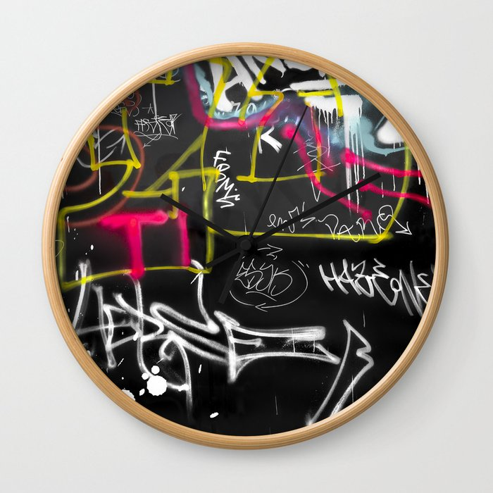 New York Traces - Urban Graffiti Wall Clock
