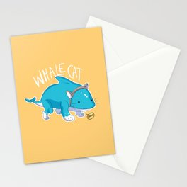 Whale Cat Stationery Cards