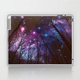 Black Trees Dark Space. Laptop & iPad Skin