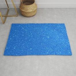 Blue Zircon December Capricorn Birthstone Shimmery Glitter Rug