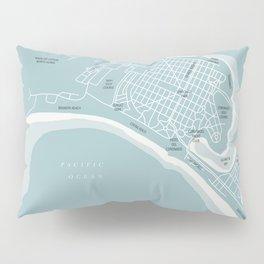 Blues Coronado California Map Pillow Sham