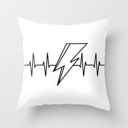 Bowie Heartbeat Throw Pillow