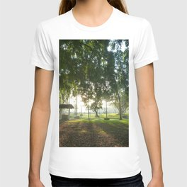 Misty Morning- Queens Park, Maryborough QLD T-shirt