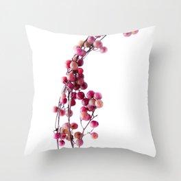 pink pepper Throw Pillow